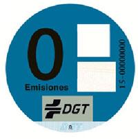 Etiqueta azul emisiones